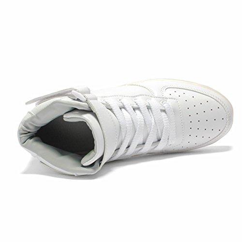 Ou les Pour Couleurs Garçon Chaussures Homme Lumière Lumineuse Enfants 7 Adulte Adult Fille LED Grands Basket Ou DoGeek Femme USB Rechargeable nTq6Y6