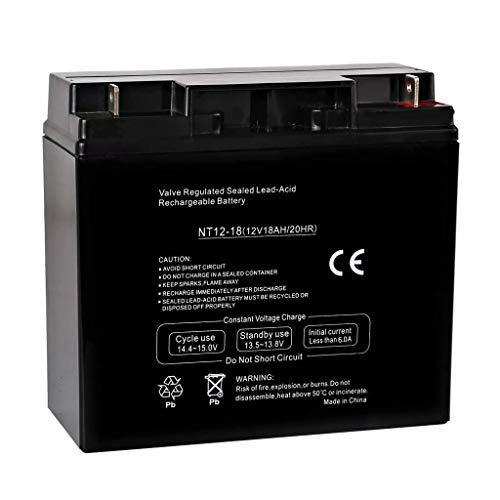 - Hykolity 12V 18AH Battery Sealed Lead Acid Rechargeable SLA AGM Batteries Replaces UB12180 FM12180 6fm18