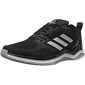 Adidas Men's Speed Trainer 3.0 Shoes, Black/Metallic Silver/White, (10 Medium US)