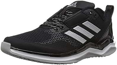 adidas Men's Speed Trainer 3 Shoes, Black/Metallic Silver/White, 4 M US