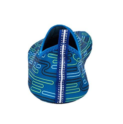 Acqua Scarpe Onda Piscina Spiaggia Nuotare Aqua Calze Yoga Uomo Donna Esercizio Sport Slip On Per Santimon Colorato Blu Marino