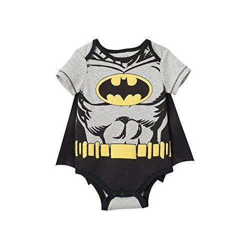 Baby Boy DC Comics Batman Bodysuit with Cape (3-6 (Bat Man Outfit)