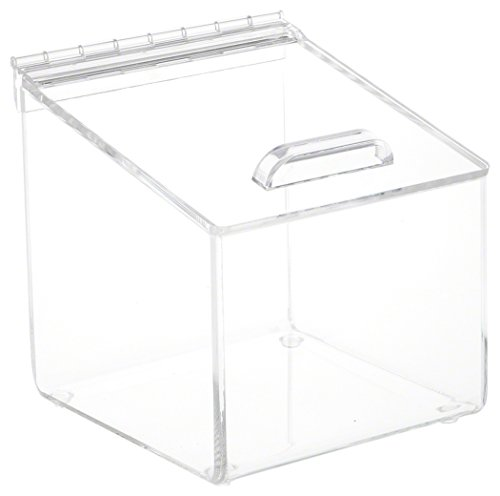 Plymor Brand Acrylic Display Box Case With Angled Top & Hing
