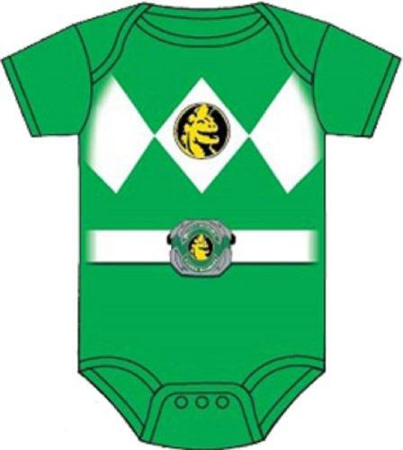 Power Rangers Baby Ranger Costume Romper Onesie (18-24 Months, Green) -