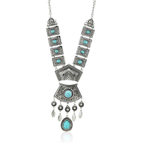 diamondo-tibetan-silver-blue-turquoise-chain-crystal-pendant-necklace-blue