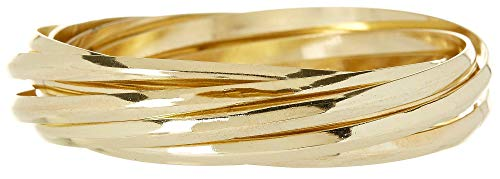 Bay Studio Gold Tone Multi Row Bangle Bracelet Set One Size Gold Tone Bay Studio Set Bracelet