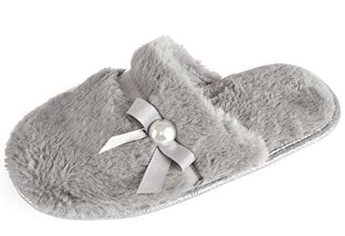 Slumberzzz Pearl Chaussons Dames Rose Bow Mule r5w5vpZzgq