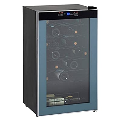 Avanti WC3406 34 Bottle Wine Chiller - Black with Stainless Trim Glass Door