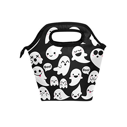 SHANGLONG Ghost Lunch Tote Bag for Women Kids Cute Insulated Cooler Quote Portable Lunch Box Handbag