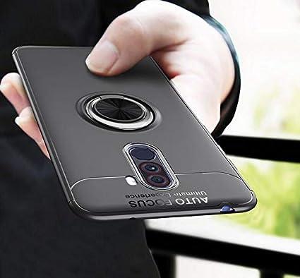 on sale b1c8c 9984c Poco F1 Cover - amozo® Ultra Slim Luxury Ring Stand Soft TPU Rubberized  Back Case Cover for Xiaomi Poco F1 (PocoPhone F1)