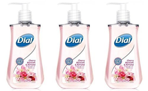 Dial Cherry Blossom and Almond Liquid Hand Soap with Moisturizers 7.5 fl. oz. (Pack of 3)