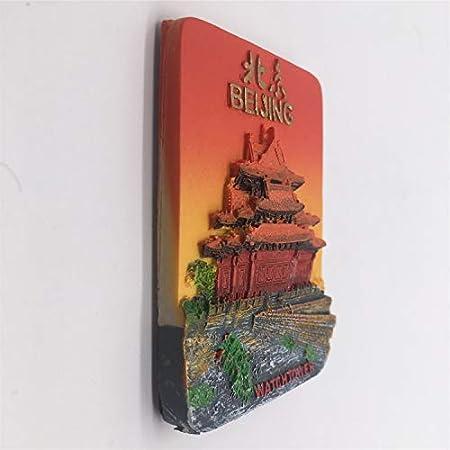 Canton Guangzhou Cina Magnete frigo 3D Resina Handmade Craft Citt/à turistica Citt/à Souvenir Collection Lettera Frigorifero Sticker