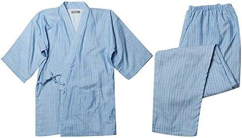 Chwet 浴衣 パジャマ 作務衣 メンズ レディース 上下セット 寝間着 和風 寝巻き ガーゼセット シンプル 前開き ルームウェア 男女兼用 甚平 夏服 通年
