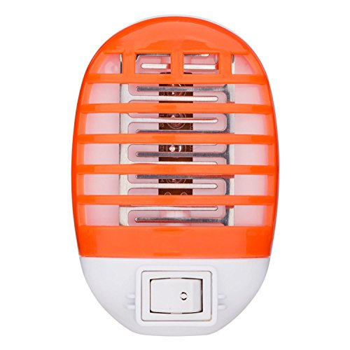 Bug Zapper Electronic insect killer,Mosquito killing lamp,best mosquito pest trap, For residential, Commercial and Industrial Use, Portable,Mini,No extra toxic liquid and spray (orange)