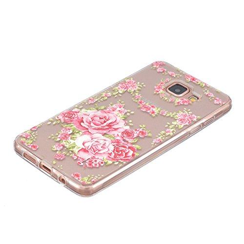 Carcasa para Samsung Galaxy S7 Edge, Galaxy S7 Edge Soft Gel TPU Funda Silicona Carcasa, Galaxy S7 Edge Funda Carcasa protectora, Galaxy S7 Edge Silicone Case Cover Skin, Ukayfe Cubierta de la caja Fu Rosas de color rosa
