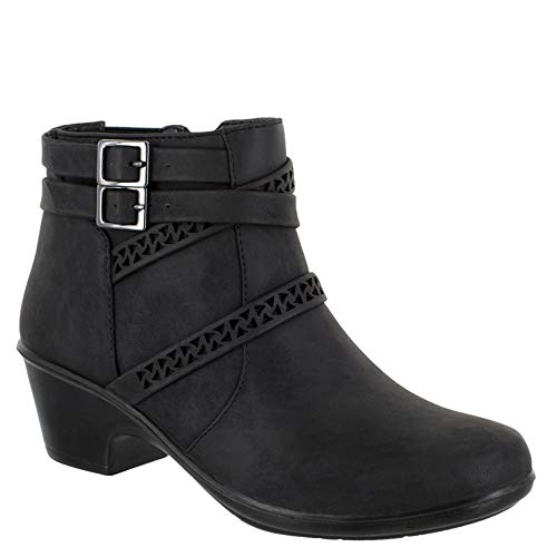 Easy Street Women's Denise Ankle Boot, Black, 9 W US from Easy Street