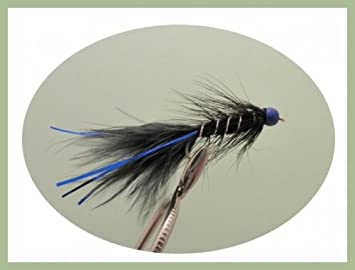 Fishing flies Hothead Trout Flies 6 pack Two Tone size 10 Black /& Yellow
