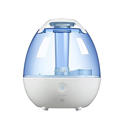 Cool Mist Humidifier - Anypro Ultrasonic Room Humidifier with Variable Time Settings, Adjustable Mist Control, and Soft Night Lights Options