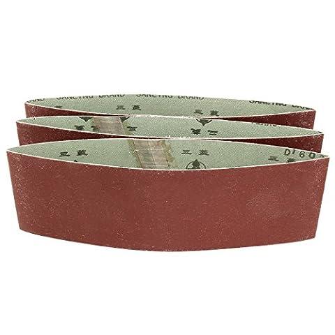 uxcell 3-Inch x 18-Inch 600 Grit Tape Butt Joint Aluminum Oxide Sanding Belt 3pcs (3x18 Sandpaper)