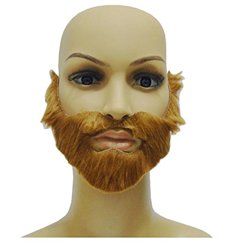 Costume Party Supplies Fake Beard Whiskers Set of 3pc Brown