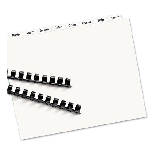 Index Maker Clear Label Unpunched Divider, 8-Tab, Letter, White, 25 Sets, Sold as 25 Set