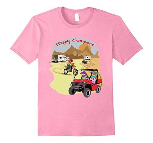 Mens Bodyne Designs Happy Camper Desert T-Shirt 3XL Pink