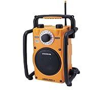 Sangean U1 Baustellenradio (mit MW/UKW Radio und AUX-In Ultra Robustes Outdoor Radio, spritzwassergeschützt nach JIS-4)