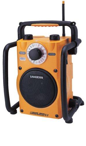 Sangean U-1 Radio utilitaire AM / FM Impermé able Antenne Haut-parleurs Ecouteurs Jaune / Noir U1 Radio portable