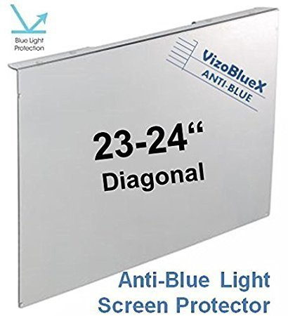 23-24 inch VizoBlueX Anti-Blue Light Filter for Computer Monitor. Blue Light Monitor Screen Protector Panel (21.5 x 13.0 inch). Blocks Blue Light 380 to 495 nm. Fits LCD, TV and PC, Mac Monitors