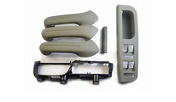 New Black Inner Door Handle Cover Grab Trim Bezel Bracket For VW MK4 Set 0f 5