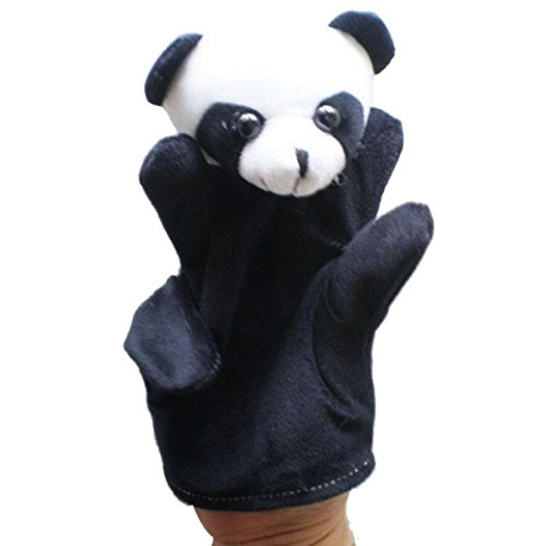 (Fullkang Cute Big Size Animal Glove Puppet Hand Dolls Plush Toy Baby Child Zoo Farm Animal Hand Glove Puppet Finger Sack Plush Toy Finger Puppets Panda)