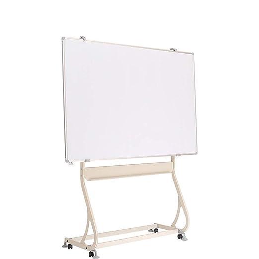 90x120 cm Magn/ética Doble Cara Pizarra Blanca M/óvil