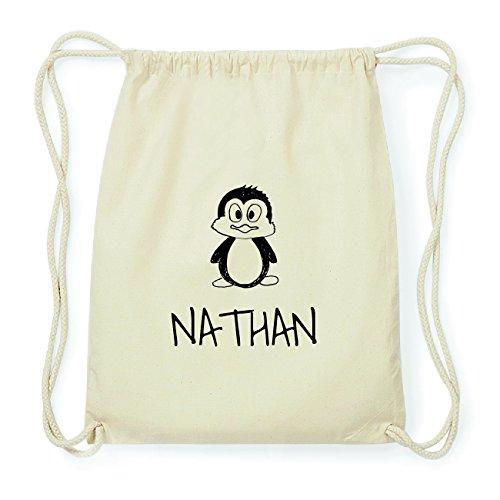 JOllipets NATHAN Hipster Turnbeutel Tasche Rucksack aus Baumwolle Design: Pinguin sam11n