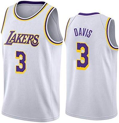 バスケットボールジャージーレイカーズ3#デイビス/スウィングマンエディションジャージー刺繍