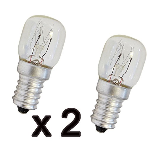 Bombilla para nevera 2x frigorifico congelador 15w E14 lampara luz frigo: Amazon.es: Iluminación