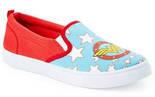 DC Comics Women's Wonder Woman Slip ON Sneaker, Aqua, Small (5/6)