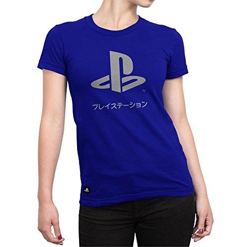 Camiseta Playstation Feminina Katakana - Azul Royal - G
