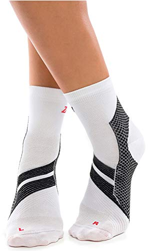 ZaTech Plantar Fasciitis Sock, Compression Socks (White/Black, X-Large)