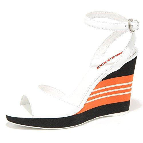 Shoes Women 53340 Bianco Sport Zeppa Sandalo Prada Donna Scarpa WZTvw7q7