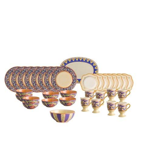 Pfaltzgraff Villa Della Luna 34 Piece Dinnerware Set with Serveware, Service for 8 - Luna Family Set