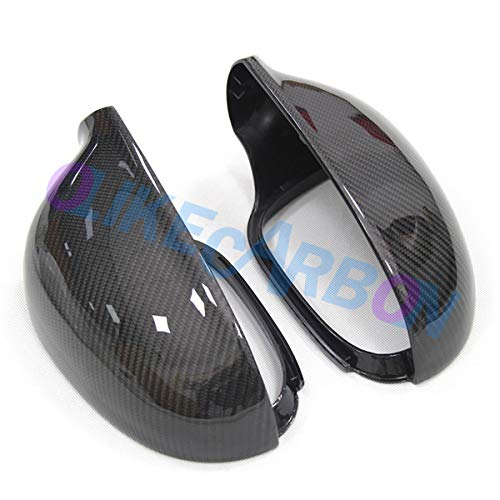 (OLIKE Replacement Carbon Fiber Rear Side Mirror Cover for Volkswagen VW Golf 5 MK5 GTI JETTA Mk5 GTi Mk5)