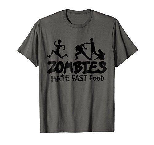Disney Halloween Themed Food (Zombies Hate Fast Food Halloween T-shirt Tee Shirt)