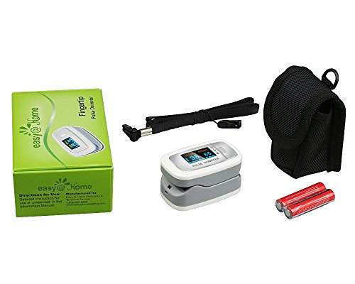 Easy@Home Deluxe Fingertip Pulse Oximeter with OLED Display in 4 Directions and 6 Modes, EHP50D1