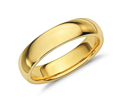 Gold 14k Band Wedding Hoop (MCS Jewelry 14 Karat Yellow OR White Gold 6mm Comfort Fit Wedding Band (yellow-gold, 12))
