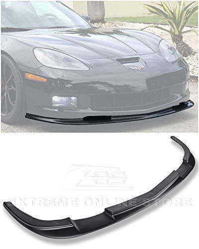 - Extreme Online Store Replacement for 2005-2013 Chevrolet Corvette C6 Wide Body Models | ZR1 Style ABS Plastic Primer Black Front Bumper Lower Lip Splitter