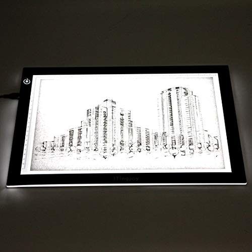 Dimmable A4 LED Tracer Light Box Slim Light Pad, ME456 USB Power Drawing Copy Board Tattoo Tracing LED Light Table for Artists Designing, Animation, Sketching, Stenciling (Black) by ME456 (Image #2)