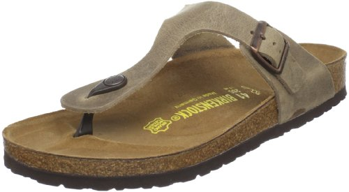 Brown Rubber Thong - Birkenstock Women's GIzeh Thong Sandal, Tobacco Brown Leather, 37 N EU/6-6.5 2A(N) US