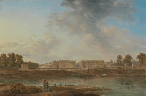 'A View Of Place Louis XV,1787 Attributed To Alexandre-Jean Nol' Oil Painting, (Louis Xv Style Console)
