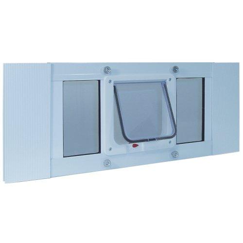 Ideal Pet Products Aluminum Sash Window Pet Door, Adjustable Width 23