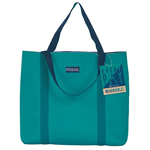 FitKicks Reversible Everyday Active Lifestyle Tote Bag (Teal) by FitKicks